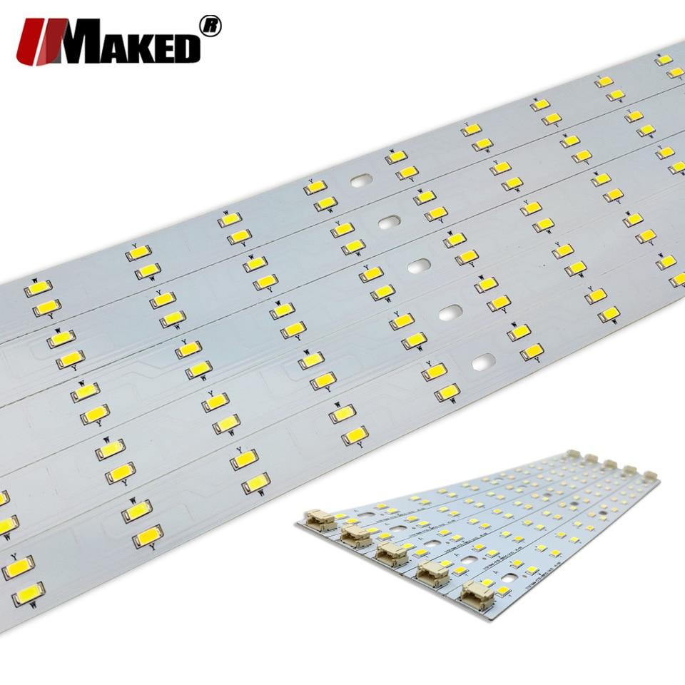 LED PCB 4Wx2 6Wx2 8Wx2 Changable Strip Light SMD5730 Aluminum Lamp Plate Ceiling Light Replace Tube Light Retrofit Lamp Board