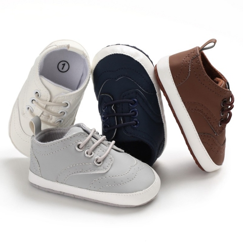 Spring Boys Shoes 0-18M Newborn Baby Shoes PU Strap Fashion Cotton Boys Shoes First Walker Casual Toddler Prewalker Lahore