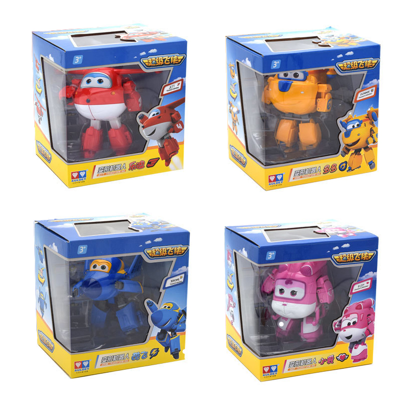 Super Wings Airplane Aracraft Deformation Transformation Figure Toys Gifts 4 PCS