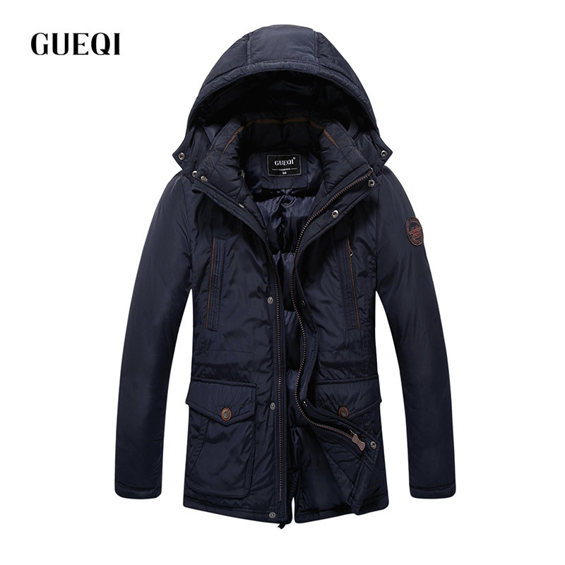 Подробнее о GUEQI 2017 Men New Winter Jacket Brand Clothing Warm Casual Solid Men's Popular Hooded Parkas For Male Jackets Outwear Coats 057 winter jacket men coats thick warm casual fur collar winter windproof hooded outwear men outwear parkas brand new