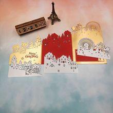 Ferris Wheel Deer Metal Cutting Die Stamp Scrapbook Embossing Stencil Mold For DIY Paper Art Handcraft Card Decor Tool