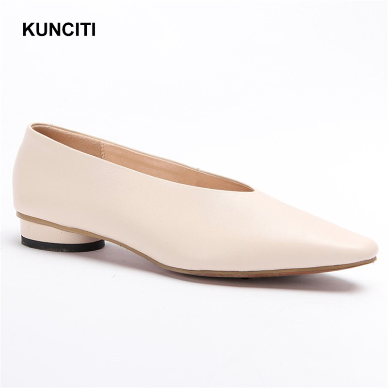 2019 Women Shoes Fall Genuine Leather Pregnant Shoes Slip On Hot Sell Korean Shoes New Designer