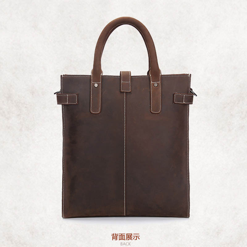 YISHEN Vintage Business Men Handbags Crazy Horse Genuine Leather Men Shoulder Bags Large Capacity Totes Messenger Bags LS9513 crazy horse genuine leather bag men vintage messenger bags casual totes business shoulder crossbody bags men s travel handbags