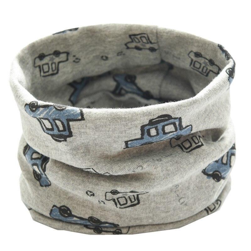 Новинка; сезон осень-зима; шарф из хлопка для девочек; Детский шарф; нагрудный шарф для мальчиков и девочек с круглым кольцом; милый детский шарф с воротником; Bufandas - Цвет: new gray car