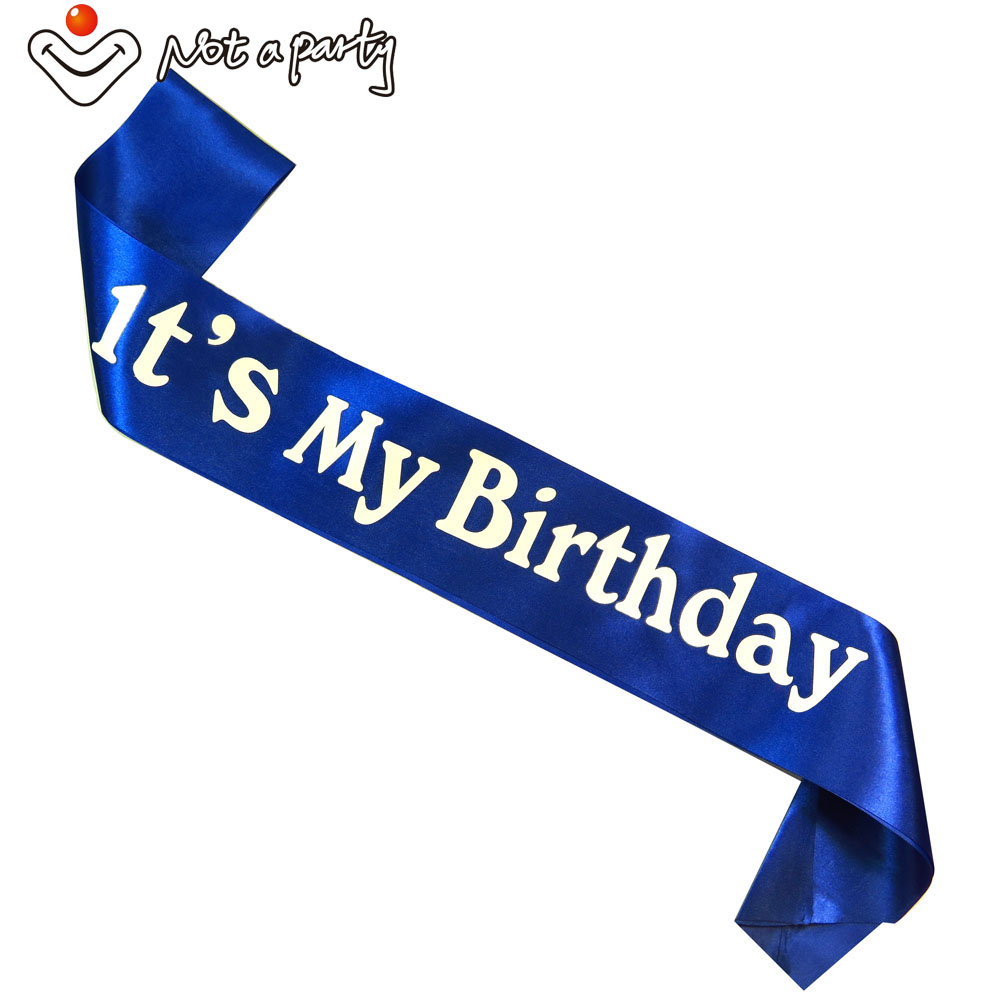 4Pcs Event party supplies its my <font><b>birthday</b></font> sash fun adult gift <font><b>18</b></font> 21 30 40 50 60 souvenir ribbons <font><b>birthday</b></font> party <font><b>decoration</b></font> image