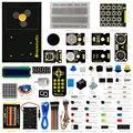 Novo! keyestudio atualizado fabricante de kit de aprendizagem/starter kit (sem placa uno) para iniciantes arduino com 1602 lcd + servo + leds + pdf