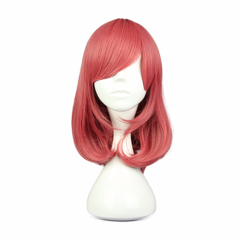 MCOSER 44cm 17inch Synthetic Hair Short Grils Straight Red Cosplay Wig 100% High Temperature Fiber WIG-560D