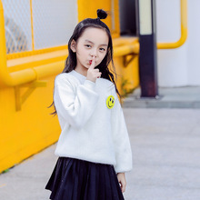 High Quality Children's Pullover Girls soft Sweater Kids Cashmere Sweater Warm Boys Wool Sweaters Jumper For winter 110-160 cm недорого