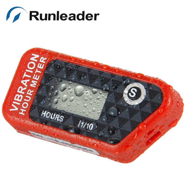 Waterproof digital LCD Vibration wireless hour meter for motorcycle outboard PUMP tractor marine pit bike jet boat SKI RL-HM016B запчасти и аксессуары для мотоциклов runleader lcd rl hm016b