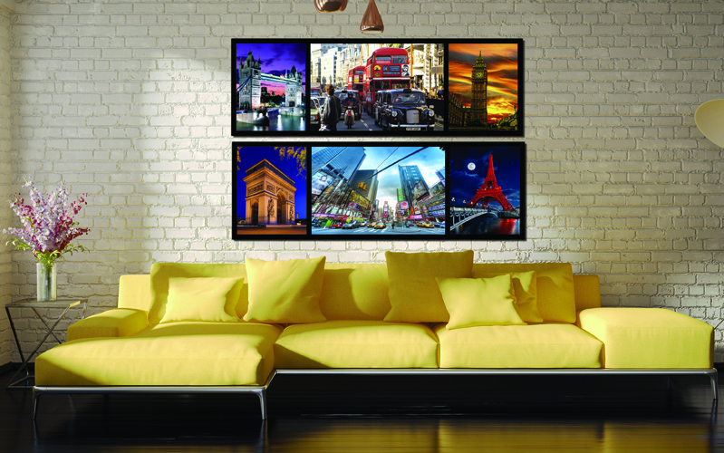 Modern Wall Art Home Printed Oil Painting Pictures No Frame 2 Panel ...