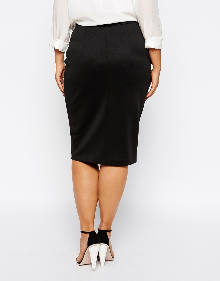 91cceabd1294 New fashions plus size pencil skirt black midi office work skirt woman with  spilt front for summer club skirt-in Skirts from Women's Clothing on ...