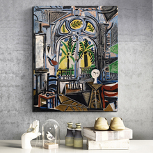 Pablo Picasso Atelier HD Canvas Painting Prints Living Room Home Decor Artwork Modern Wall Art Oil Posters Pictures