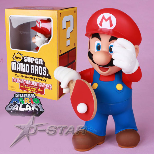 Free Shipping Super Big Size 12 Super Mario with PingPang Action Figure Display Collection Model Toy ems shipping 12 sets cute super mario game mario luigi brothers set pvc action figure collection model dolls toy 3pcs per set