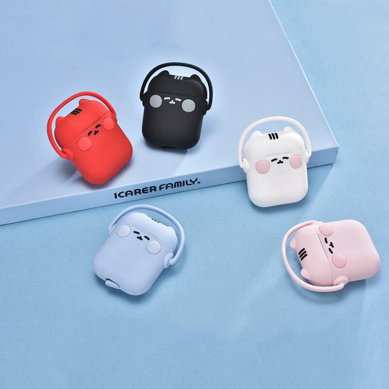 Cat Cute Earphones Portable Wireless Headphones Charging Case Mini Headsets Protective Sleeve Cover Earphones Box