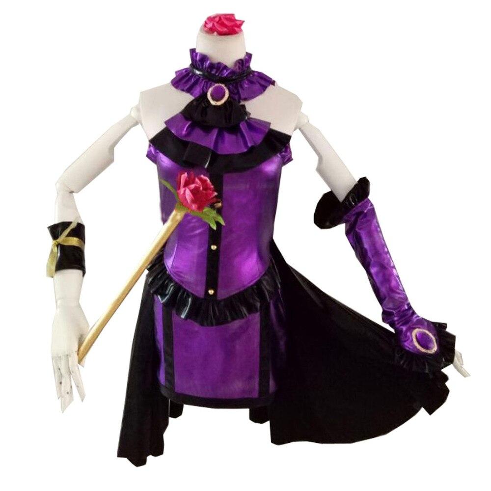 2017 les filles IDOLM @ STER cendrillon Kanzaki Ranko violet costumes Cosplay Costume Anime robe (pas de bâton)
