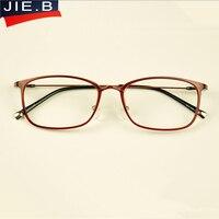Moda óculos de plástico retro vintage titanium quadro simples óculos de vidros ópticos homens mulheres miopia óculos de armação oculos de grau