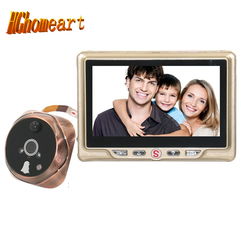HGhomeart The visual doorbell is a 4 3 inch large screen intelligent electronic cat eye photo