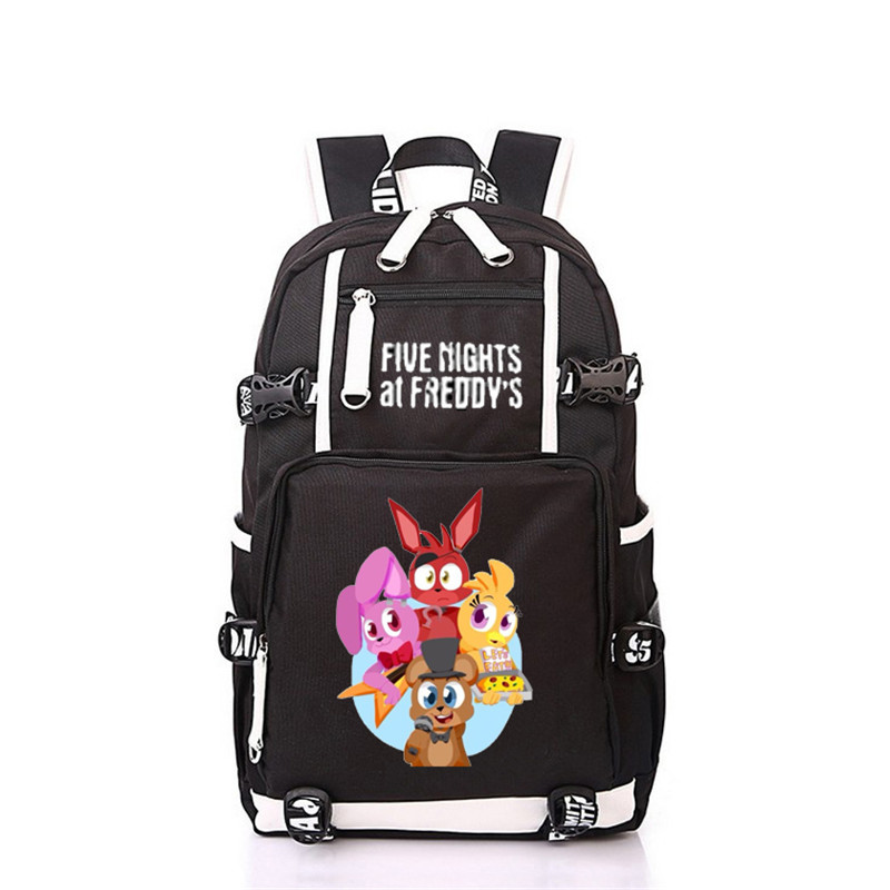 Men Women Anime Five Nights at Freddy Fox Bear Backpack Rucksack Mochila Schoolbag Bag For School Boys Girls Student Gift