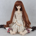 1PCS Retail Long 1/4 BJD Doll Wig High-temperature Wire 1/3 Wig For Dolls