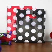 Dot plastic gift bags with handles plastic packaging bag lot carrier bag for shopping 200pcs/lot Free shipping