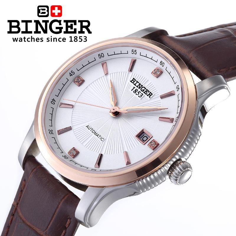 İsveçrə BINGER kişi lüks marka mexaniki qol saatları - Kişi saatları - Fotoqrafiya 4