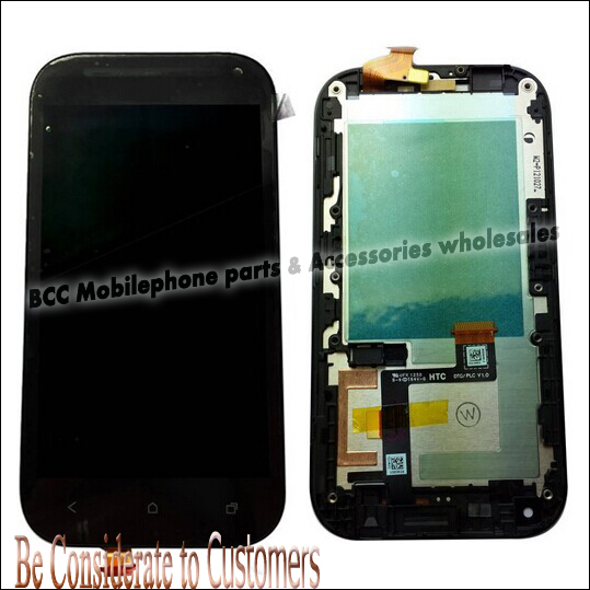 For HTC ONE SV LCD Display +Touch Screen Assembly Digitizer Panel with Frame 100% Original Black or White Tools Free Shipping original lcd screen display touch panel digitizer with frame for blackberry classic q20 black free shipping