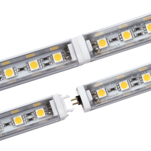 2pcs LED Bar Light Fast Connecting Rigid LED Strip 5050 DC12V 50cm/36leds LED Kitchen Light Under Cabinet Closet Sink + PC Cover