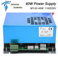 Dragon Diamond Original MYJG 40W CO2 laser power supply for CO2 laser tube 110V / 220V for laser tube engraving cutting machine