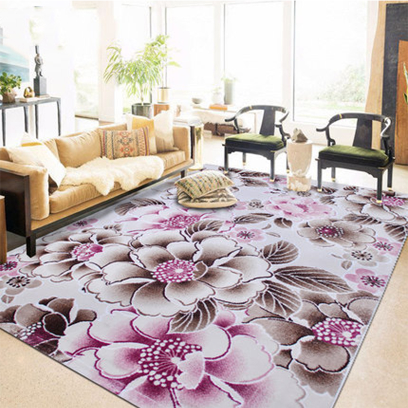 3D Flower Floral Carpets for Living Room Modern Kids Room tapis salon Long Kitchen Pink Floor Bedroom Rug Mats Home Decor
