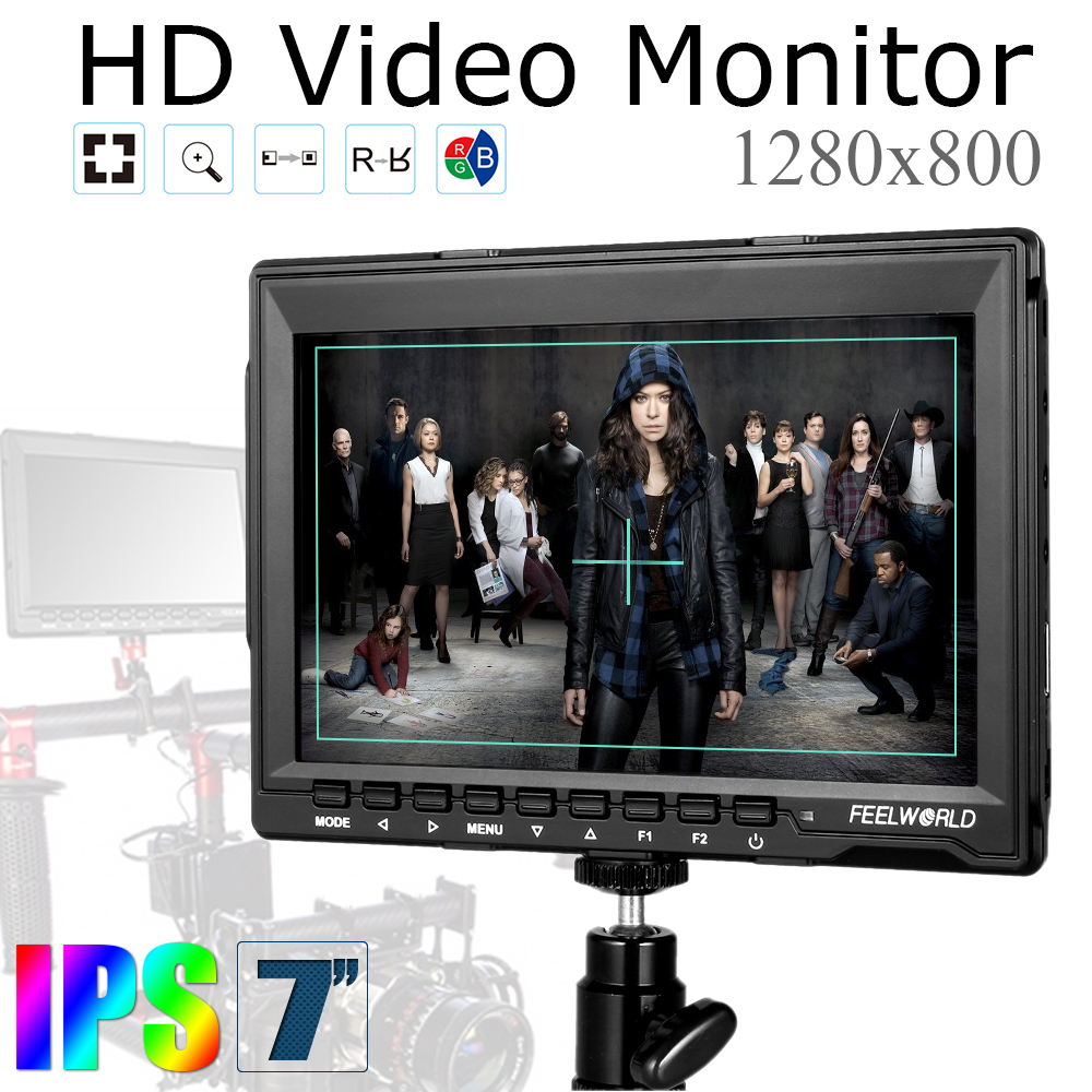 Computer Field HD LCD Car Monitor for BMPCC + 11 Magic Arm for DSLR Camera FW759 7 inch IPS 1280x800 HDMI