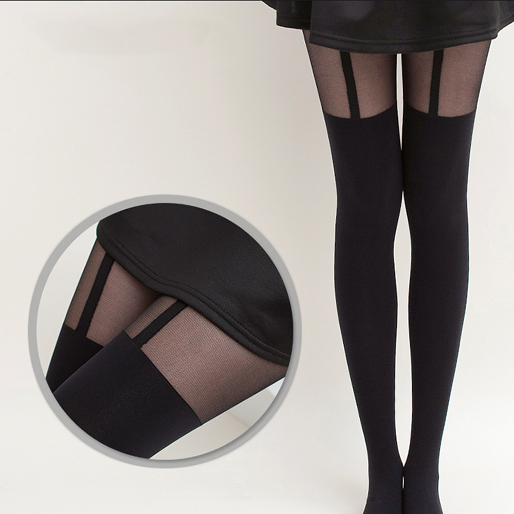 KLV Women Mock Suspender Tights Sexy Soft And Comfortable Tights Highly Fashionable Stockings Patterned Female Sexy Stocking