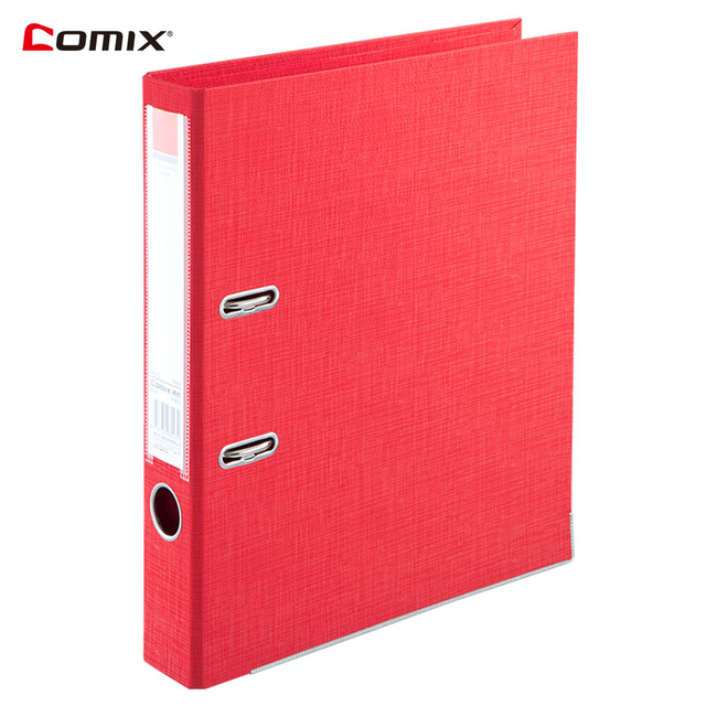 comix a4 lever arch file folder for documents 2 ring binder large