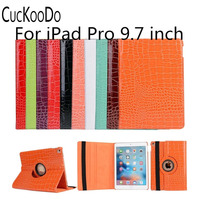 PU Leather Folio Auto Sleep Wake 360 Degrees Rotating Swivel Stand Case For Apple IPad Pro