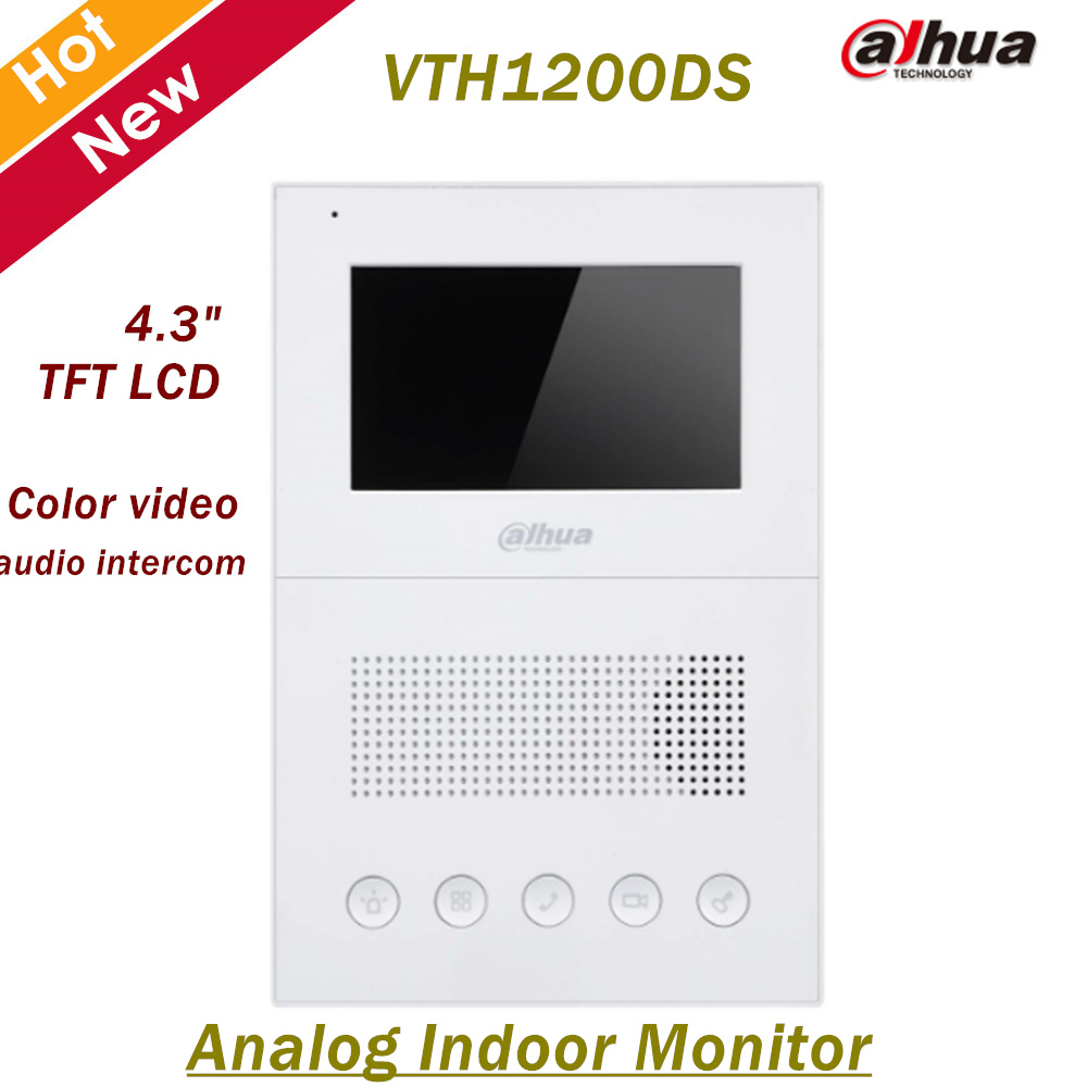 Dahua Analog Indoor Monitor 4.3 TFT LCD screen Color video and audio intercom Alarm integration Sufrace mounted VTH1200DS aputure digital 7inch lcd field video monitor v screen vs 1 finehd field monitor accepts hdmi av for dslr