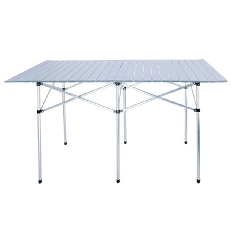 Outdoor Folding Table Chair Camping Aluminium Alloy Picnic Table Waterproof Durable Folding Table Desk For 140*70cm outdoor camping folding table camping aluminium alloy picnic table waterproof 600doxford durable folding table desk for picnic