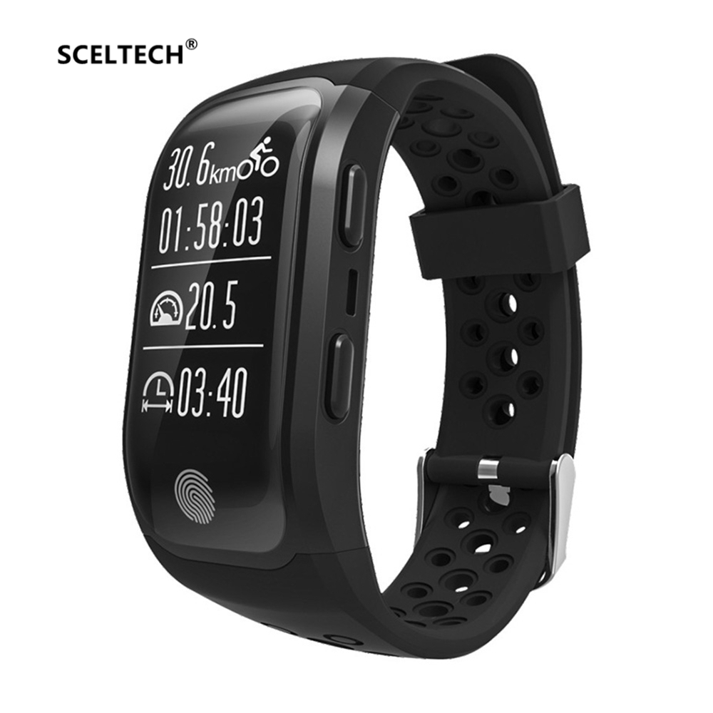 SCELTECH S908 IP68 étanche Bracelet intelligent Bluetooth GPS Tracker Bracelet intelligent moniteur de fréquence cardiaque Fitness bande intelligente