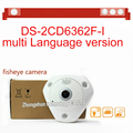 fast free shipping 6MP Fisheye Network Camera , 360 view angle ,Multiple viewing modes,DS-2CD6362F-I