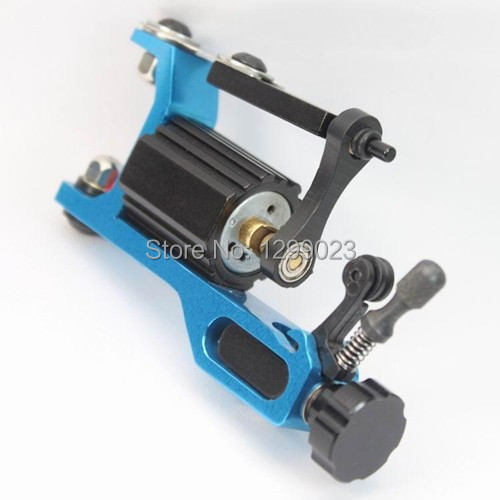 Professional High Quality Tattoo Kits Color Black Gun Rotary Tattoo Machine Clip Cord Foot Pedal Needle Free Shipping