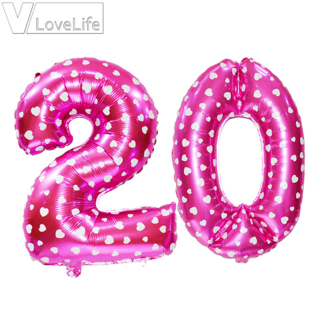 16th 18th 20th 21st 30th 40th 50th Birthday Balloons Anniversary Rose Gold Balloon Number Figure Party Decorations
