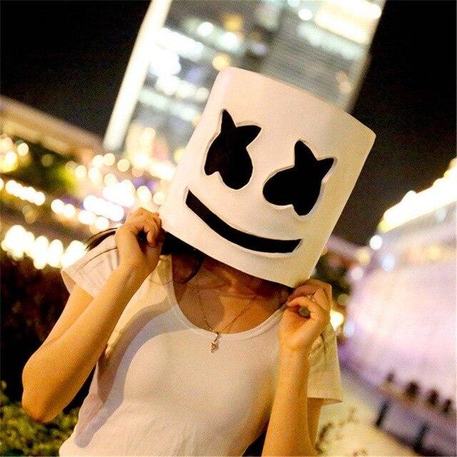 DJ LED Luminous Masks Helmet Mask Cosplay Prop DJ Halloween Party Latex Masks LED Party Bar Luminous Mask 3