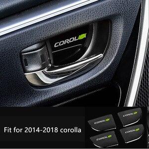 Image 2 - Auto maniglia interna della porta ornamento per toyota camry 2012 2016 corolla 2014 2018 adesivo in acciaio inox accessori auto styling