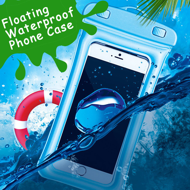 hot sale online f743c bbce3 US $1.05 33% OFF|Floating Waterproof Phone Case Waterproof Pouch Cell Phone  Dry Bag For iPhone X Waterproof Case Cover Underwater Pouch-in Fitted ...