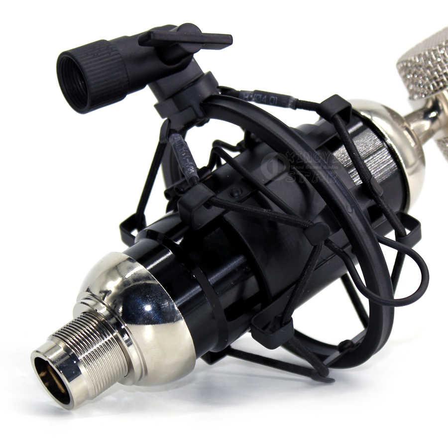 מתכת הר השעיה הלם אוניברסלי עכביש עמיד הלם מחזיק מיקרופון הקבל מיקרופון סטנד קליפ עבור ISK RM18 T2050 TRM9 RM16