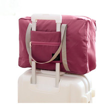 Collapsible Travel Bag Korean Version Solid Polyester Storage Bags Women Enlarging Can Be Set To Pull Rod Box Luggage Bags cartoon cute pull rod box college student luggage small fresh luggage box korean version password box