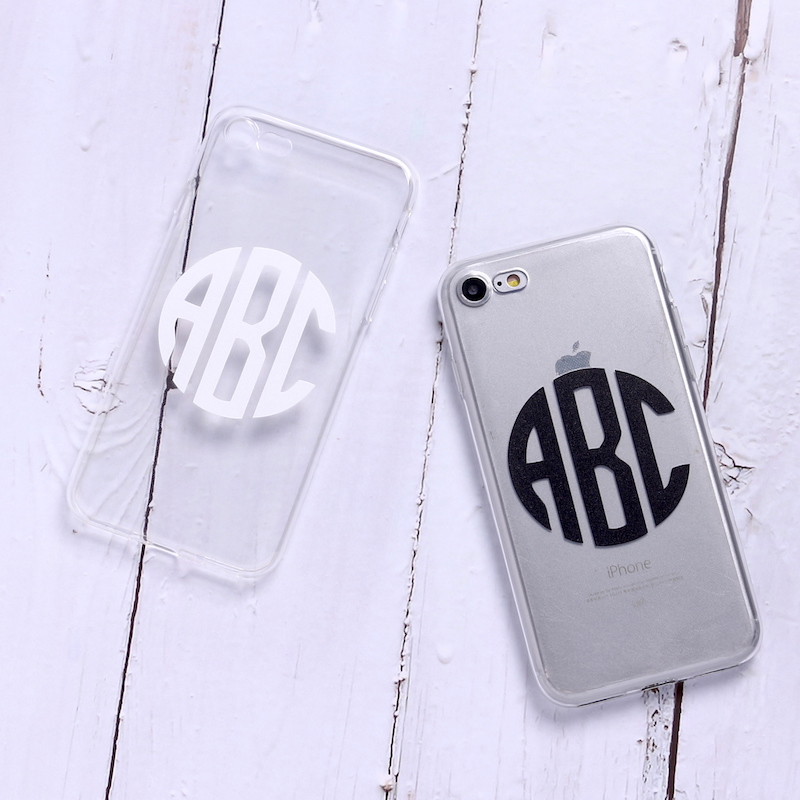TOMOCOMO Monogram Initials Personalized Custom Name Text Soft Clear Phone Case For iPhone 6 6S 6Plus 7 7Plus 8 8Plus 5 X SAMSUNG in Fitted Cases from Cellphones Telecommunications