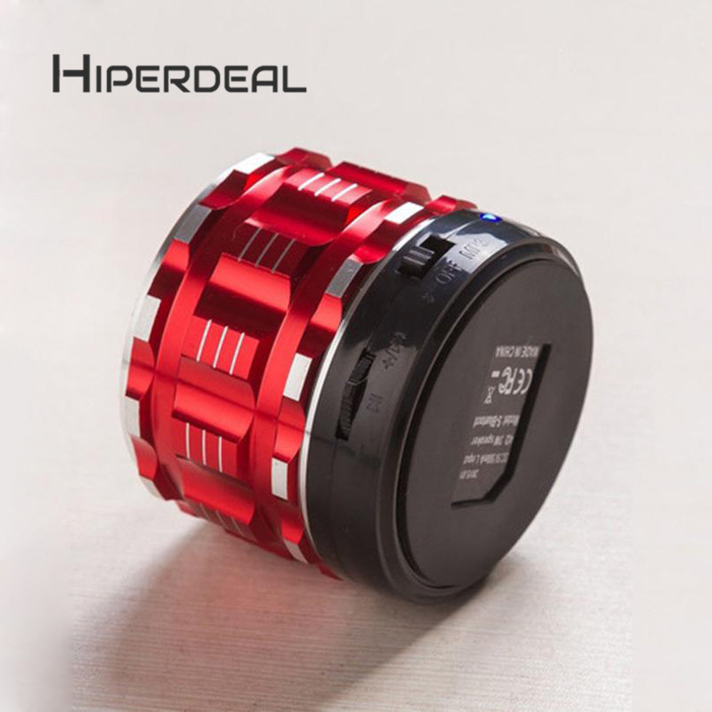 HIPERDEA Portable Mini Metal Steel Wireless Smart Hands Free Bluetooth Speakers Subwoofer Loudspeakers Fashion WithTF FM Sep6