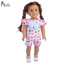 """Fleta 43cm Zapf bébé né ou 18 """"poupée américaine poupée en forme de coeur motif costume vêtements poupée accessoires B85"""