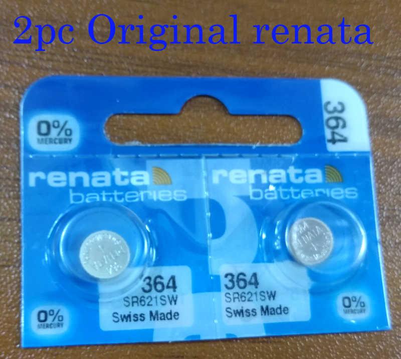 2 chiếc renata Oxit Bạc Pin Đồng Hồ 364 SR621SW 621 1.55V % HG Hàng chính hãng thương hiệu