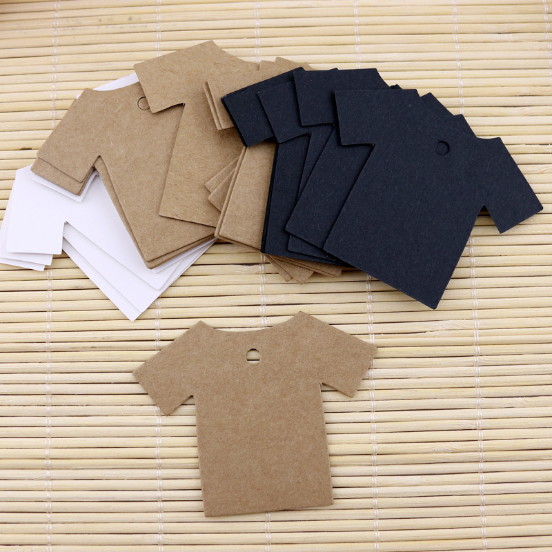 100pcs 5.5*7cm Clothes Shape Kraft Packing Label Wedding Party Label Price Gift Cards Baking Price Tags/gift Tags/labels Home & Garden