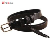 Black 100 Genuine Leather Thin Tassel Belt For Women Dresses Casual Luxury Cowhide Belt Strap High